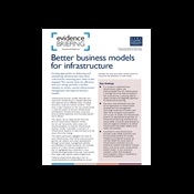Better business models for infrastructure