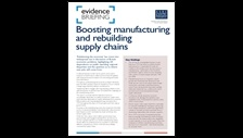 Boosting manufacturing and rebuilding supply chains