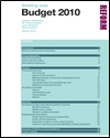 Briefing note: Budget 2010