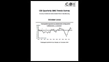 CBI quarterly SME trends survey: October 2010