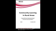 Community learning in rural areas