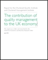 The contribution of quality management to the UK economy