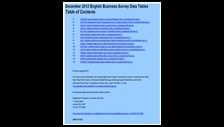 December 2012 English Business Survey data tables