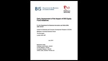 Early assessment of the impact of BIS equity fund initiatives