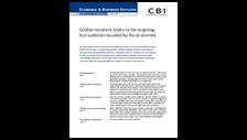 Economic and business outlook September 2010: global expansion slow but durable, as fiscal adjustment begins to bite