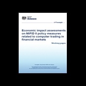 Economic impact assessments on MiFID II policy measures related to computer trading in financial markets