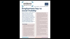 Employment key to social mobility