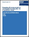 Engaging all young people in meaningful learning after 16: a qualitative study