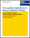 The equality implications of being a migrant in Britain
