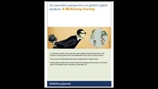 An executive perspective on global capital markets: a McKinsey survey