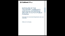 Exposure of the voluntary, community and social enterprise sector to cuts in public funding