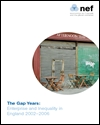 The gap years: enterprise and inequality in England 2002-2006