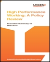 High performance working: a policy review: summary