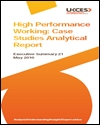 High performance working: case studies analytical report: summary