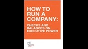 How to run a company: checks and balances on executive power