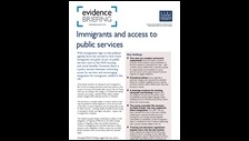 Immigrants and access to public services