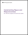 Implementing rigour and responsiveness: BIS/DfE brief on progress for FE governors and leaders