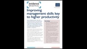 Improving management skills key to higher productivity