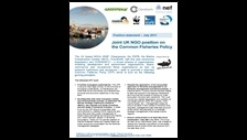 Joint UK NGO position on the Common Fisheries Policy