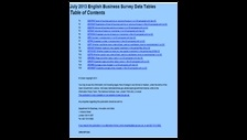 July 2013 English Business Survey data tables