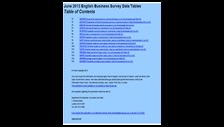 June 2013 English Business Survey data tables
