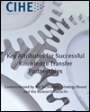 Key attributes for successful knowledge transfer partnerships