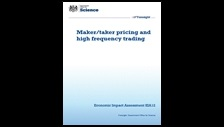Maker/taker pricing and high frequency trading