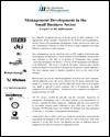 Management development in the small business sector; a report for the millenium