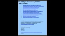 May 2013 English Business Survey data tables