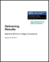 National minimum wage compliance: report for 2010/11
