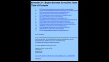 November 2013 English Business Survey data tables