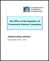 The Office of the Regulator of Community Interest Companies: operational report: first quarter 2012 - 2013
