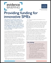 Providing funding for innovative SMEs