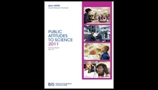 Public attitudes to science 2011: summary report: summary