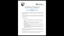 The quality of working life: the 2000 survey of managers' changing experiences: summary
