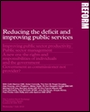 Reducing the deficit and improving public services