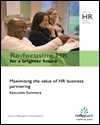 Re-focusing HR: Maximising the value of HR business partnering
