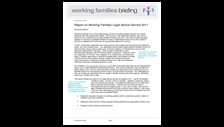 Report on Working Families Legal Advice Service 2011