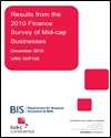 Results from the 2010 finance survey of mid-cap businesses