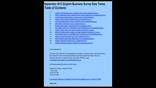 September 2013 English Business Survey data tables