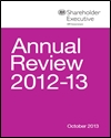 Shareholder Executive annual review 2012-13