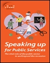 Speaking up for public services
