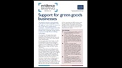 Support for green goods businesses