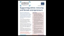 Supporting ethnic minority and female entrepreneurs