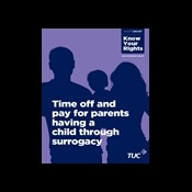 Time off and pay for parents having a child through surrogacy