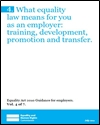 What equality law means for you as an employer: training, development, promotion and transfer
