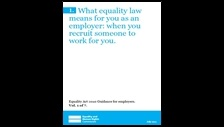 What equality law means for you as an employer: when you recruit someone to work for you