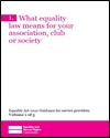 What equality law means for your association, club or society