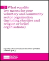 What equality law means for your voluntary and community sector organisation (including charities and religion or belief organisations)