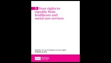 Image of Your rights to equality from healthcare and social care services cover